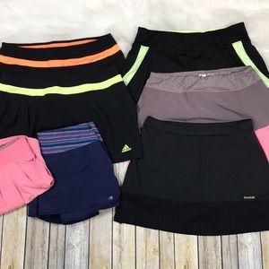 Bundle of 7 Athletic Running Tennis Skorts Shorts